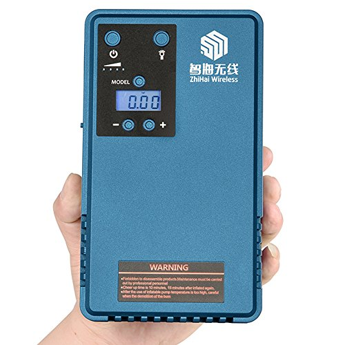 Zhihaiwireless Car Jump Starter with Tyre Air Pump Compressor &mobile power support LCD screen tyre pressure gaguer &Outdoor Camping lights 10200MA capacity, 500A Peak Current and 85PSI Peak Pressure