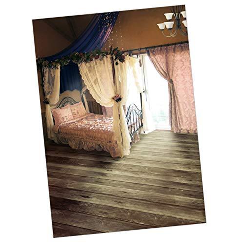 P Prettyia ドールハウス ベッドルーム背景 1/4 1/6スケール人形用 人形写真 撮影背景 バッククロス 3サイズ - 50x90cm