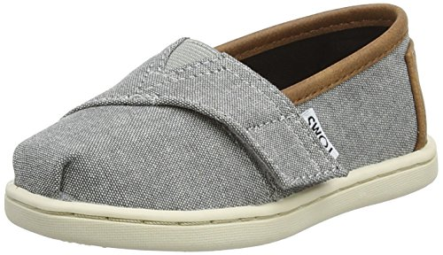TOMS Kids Unisex Seasonal Classics (Infant/Toddler/Little Kid) Frost Grey Chambray/Pu Loafer -
