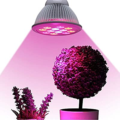 Industrial Grade LED Grow Light - Essential Choice - Full Spectrum Hydroponic Light Bulb - High Luminosity & Low Power Consumption - Plant Grow Lights Greenhouse Garden Indoor Growing Flowers