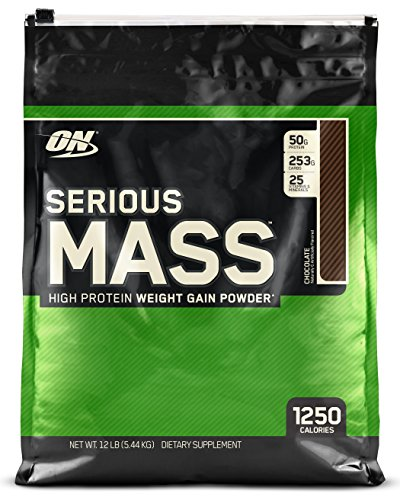 Optimum Nutrition Serious Mass Gainer Protein Powder  Chocolate  12 Pound