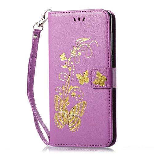 COWX Nokia 6 Hülle Kunstleder Tasche Flip im Bookstyle Klapphülle mit Weiche Silikon Handyhalter PU Lederhülle für Nokia 6 Tasche Brieftasche Schutzhülle für Nokia 6 schutzhülle
