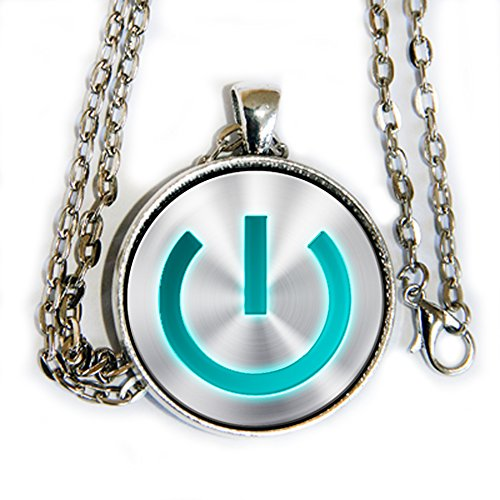 Superhero Nerd Costume (Power On symbol - pendant necklace - HM)