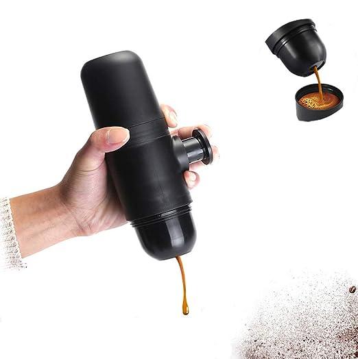 DSYYF Mini máquina de café Cafetera de Mano Portátil Compacto ...