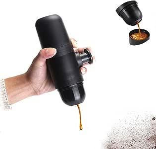 DSYYF Mini máquina de café Cafetera de Mano Portátil Compacto Manual Cafetera de Espresso Presión de Mano Cafetera Express portátil: Amazon.es: Hogar
