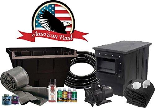 Kit Pond American (American Pond Colossus 26' x 26' Pond Kit Professional Series Energy Saving)