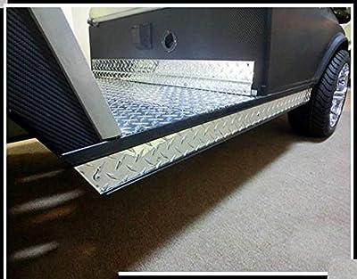 Golf Clubs & Equipment Aluminum Diamond Plate Rocker Panel for Club Car Golf Cart DS 82-Up (set of 2)