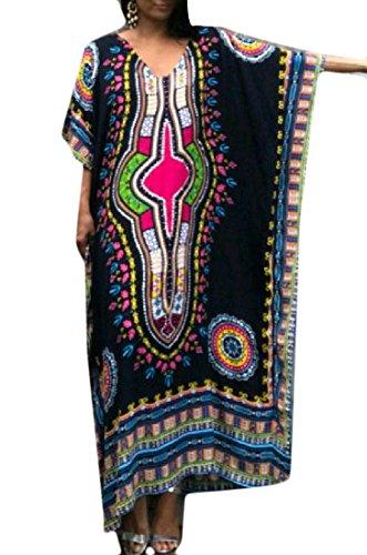 Coolred-femmes Vogue Robe Dashiki Totem D'impression Ample Robe Longue Pattern3