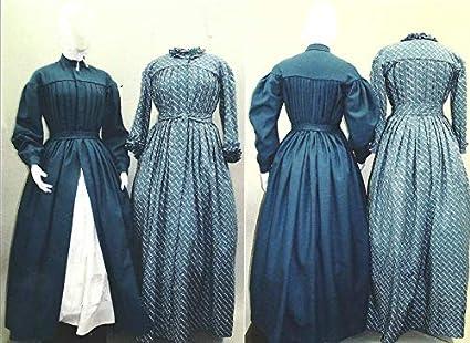 8de8287da4f57 Pleated Wrapper Work Dress Morning Gown Maternity Dress Civil War Era  Reproduction 1840's-1960's Laughing