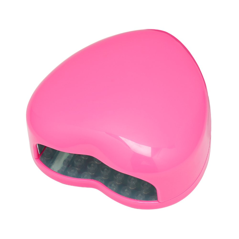 Heart-Shaped Nail Lamps Phototherapy Machines Phototherapy Lamps Dryers Led Lamps Nails Ovens Lamps Quick Drying Mini Household 3w,Pink Yihang Processing plant