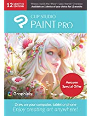 $29 » CLIP STUDIO PAINT PRO with Bonus Brushes | 12 Months Edition | 1 Device | PC, macOS, iPad, iPhone, Galaxy, Android, Chromebook [Keycard]