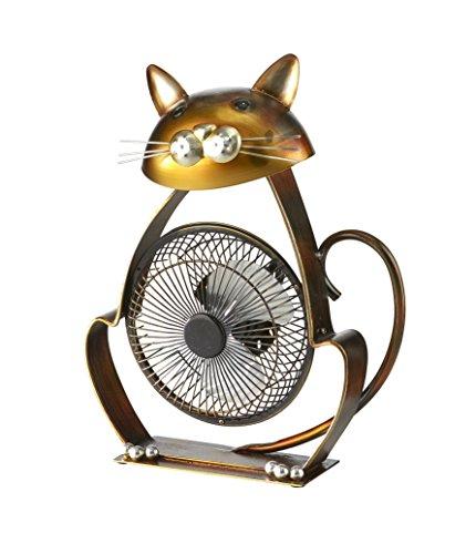Cheap  DecoBREEZE Portable Table Fan USB Fan, 6 in, Cat
