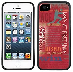 LJF phone case Volleyball Handmade iphone 4/4s Black Case