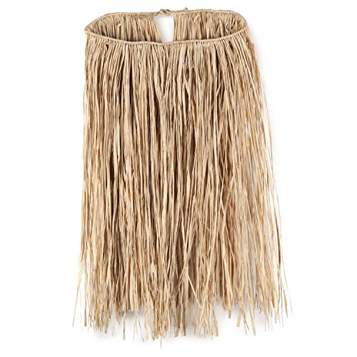 King Size Raffia Hula Skirt (natural) Party Accessory  (1 count) (1/Pkg) (Raffia Hula Skirt)