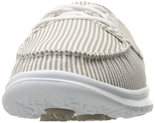 Skechers Le Donne Vanno A Passo-sabbioso Scarpe Da Barca Taupe