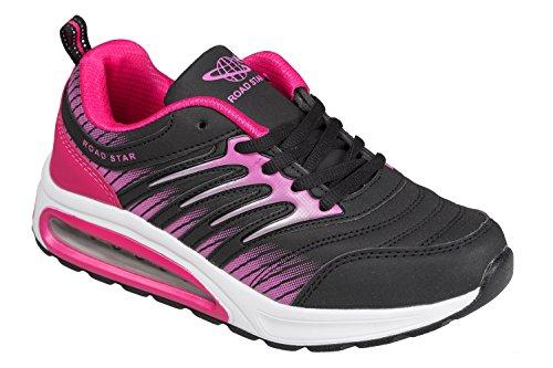 Schwarz y 8 rosa 3 Reino 7 de 6 4 Gibra® rosa negro superligero Unido cómodo 5 deportivo para perros negro Calzado tallas tamaños q648tH1xwn