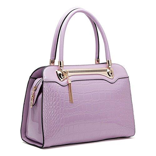 Ethan Womens Pu Leather Fashion Office Purple Tote Satchel Hangbag D4029ethan