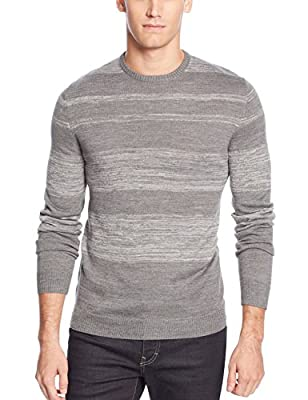 Calvin Klein CK Parallel Striped Crewneck Sweater Fraction Grey Heather Combo