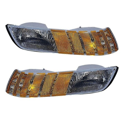 1992-1993-1994 Mercury Grand Marquis Corner Park Light Turn Signal Marker Lamp Pair Set Right Passenger AND Left Driver Side (92 93 94)