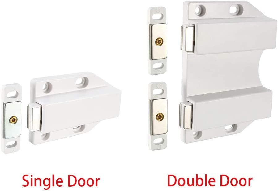 Door Catches 4 Pcs Cupboard Cabinet Wardrobe Damper Magnet Opener Closet Home Metal RV Drawer Push Latch Soft Close Kitchen Tool
