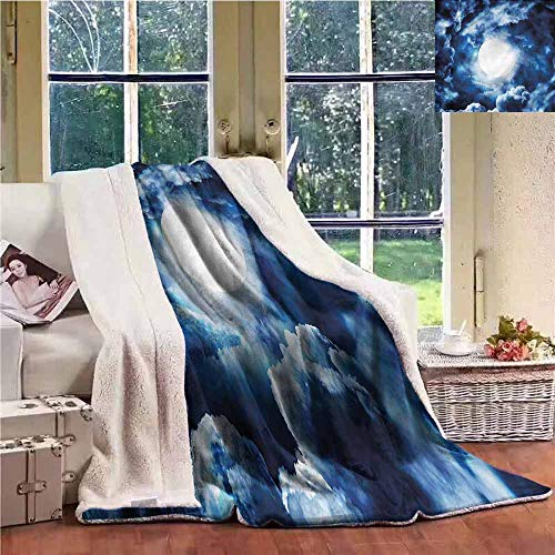 Sunnyhome Winter Quilt Space Magic Dark Twilight Dawn Throw Blanket Picnic Blanket W59x31L