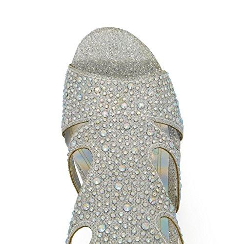 de cheville Bride silver London Footwear femme EqBqwF