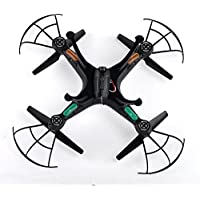 Cewaal FPV X5SW-1 Quadcopter WIFI Live Cameras Selfie Video Drone 2.4Ghz 4CH RC Black