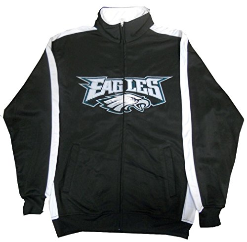 Philadelphia Eagles NFL End Zone Full Zip Mens Track Jacket Big & Tall Sizes (MT)