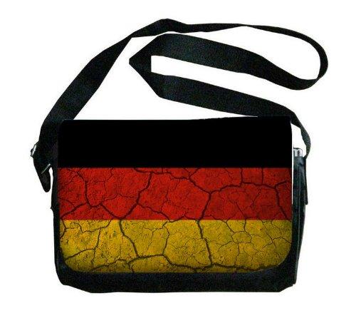 ドイツ国旗Crackledデザインメッセンジャーバッグ B00FMFKU8A