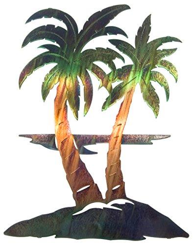 Palm Tree Wall Art, modern metal decor