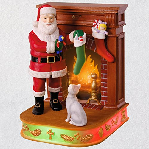 Hallmark Keepsake Christmas Ornament 2018 Year Dated, Once Upon a Christmas Stockings Hung with Care with Music and Light