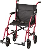 NOVA Medical Products 18'' Lightweight Transport Wheelchair, Red