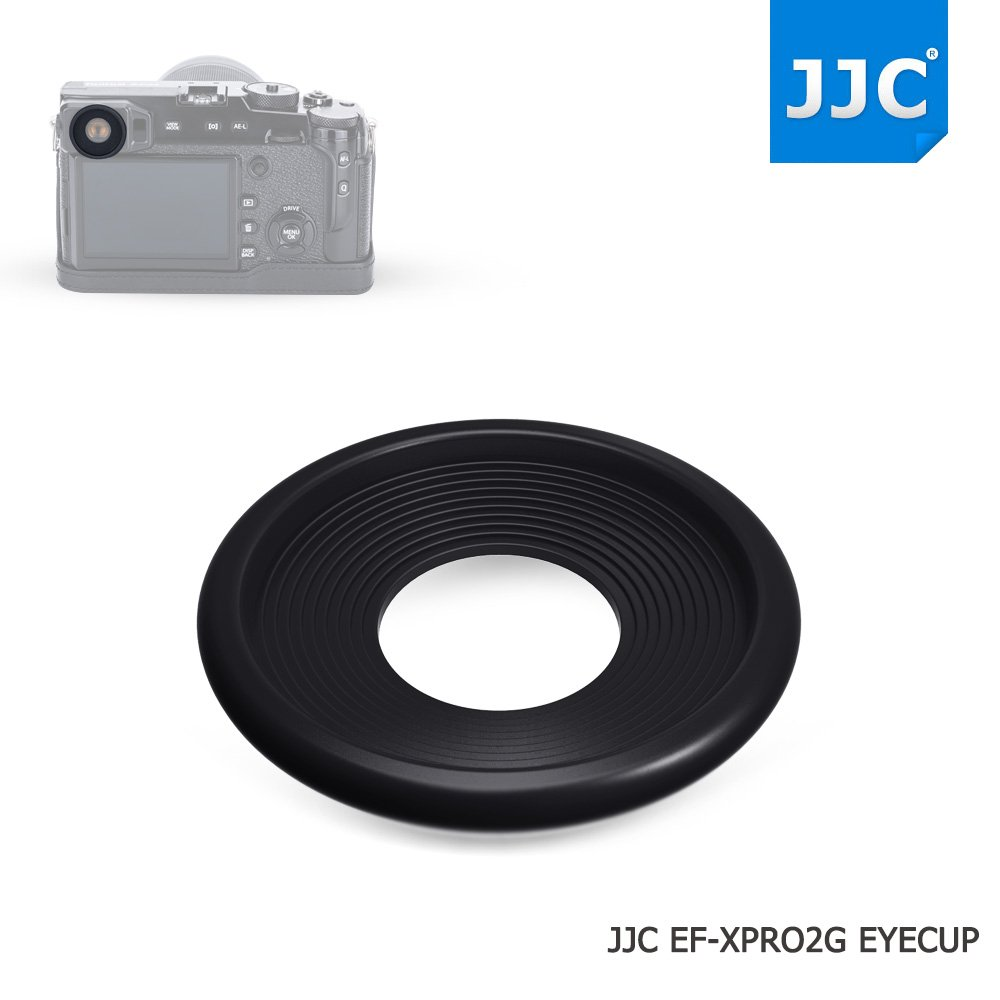 JJC 2Pcs Soft Silicone Rubber Eyecup Eyepiece Viewfinder for Fujifilm X-Pro2 XPro2 Digital Camera, for Eyeglass User