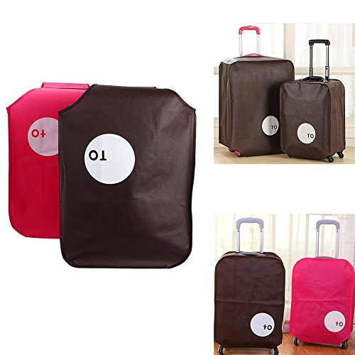 1pc Non-woven Travel Luggage Cover, Suitcase Protector Dust Proof Cover Fit for 20/24/26/28 Inch (20inch,Coffee) by GEZICHTA (Image #5)