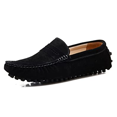 a5806e517f6 2016-2-Black-7 Adonis Mens Dress Shoes Suede Driving Moccasins Loafer Shoes