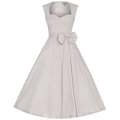 Lindy Bop Grace Ivory Prom Party Dress ...