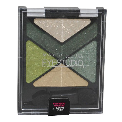 Maybelline New York Eye Studio Color Explosion Luminizing Eyeshadow, Forest Fury 15, 0.09 Ounce ()