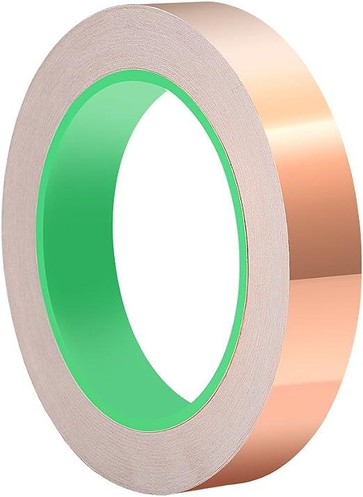 ASIV 20 mm X 20 m cinta de cobre hoja, cinta adhesiva conductora ...