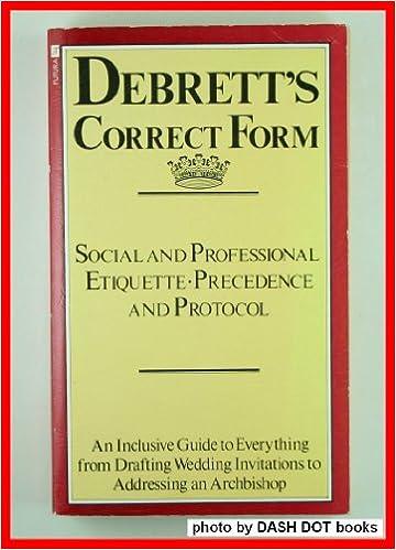 Debrett's Correct Form (A Futura book)