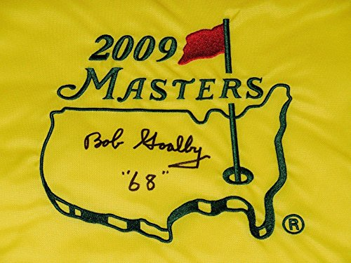 Bob Goalby Autographed Masters Golf Flag (1968 Winner) - W/Coa! - Autographed Golf Pin Flags