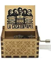 Jsona The Paper House La Casa de Papel caja de música de madera tallada a mano antigua manivela de papel Ciao Bella caja de juguetes, La Casa de Papel 1
