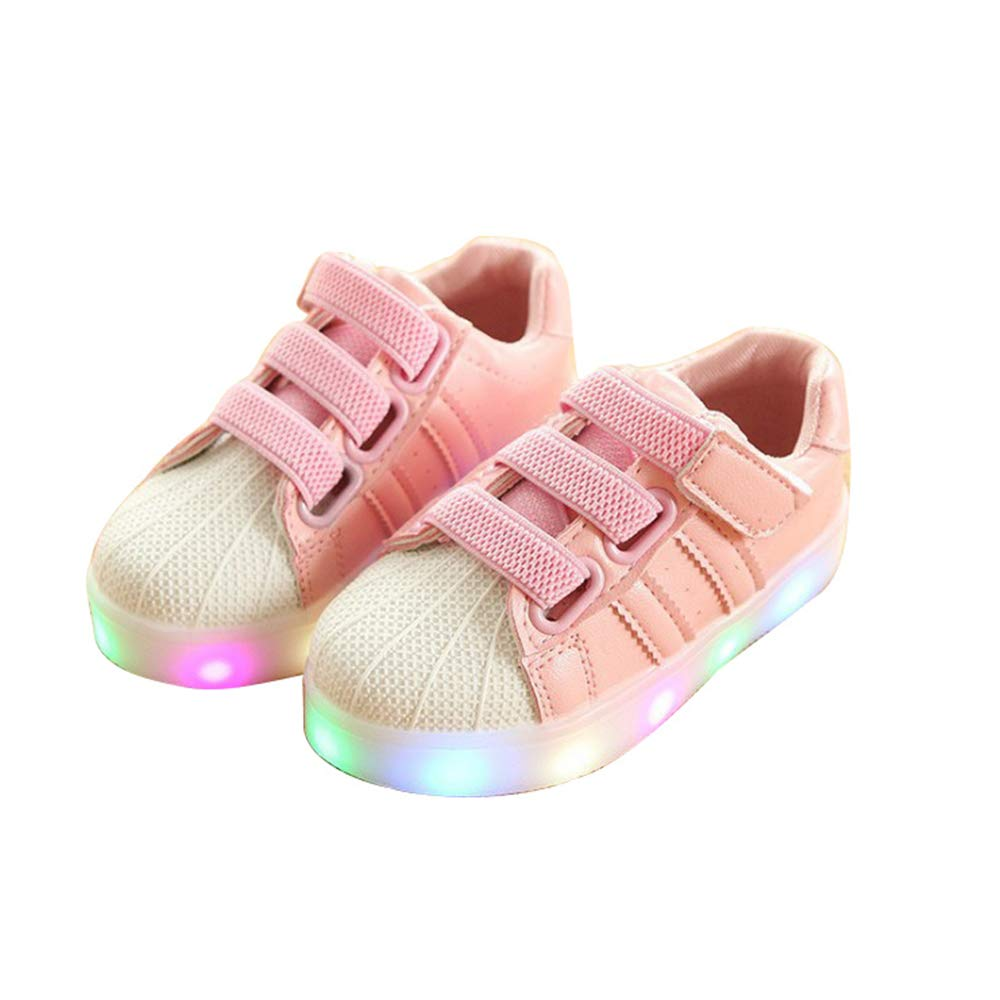 pit4tk Child Baby Shoes LED Light Luminou Fashion Sneakers Colorful