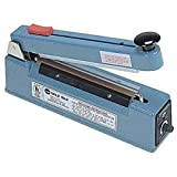 Hand Operated 5mm Impulse Heat Sealer w/ Cutter for 8'' Wide Bags and Tubing