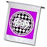 Janna Salak Designs Bunco – Bunco Chicks Roll With It Purple – 18 x 27 inch Garden Flag (fl_28503_2) Review