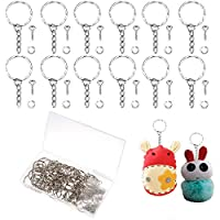 50 Pcs Key Chain Rings Metal Split Keyrings Silver Key Ring Bulk Keyring Blanks with Link Chain 50 Pcs Open Jump Rings…
