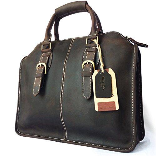 Homodo Handmade Leather Vintage Messenger Bag for 13