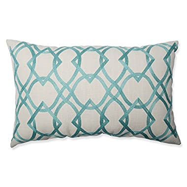 Pillow Perfect Forget Me Knots Aqua Rectangular Throw Pillow