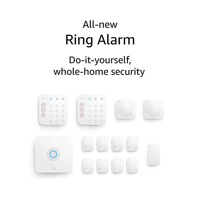 All-new Ring Alarm 14-piece kit (2nd Gen) – home security system with optional 24/7 professional monitoring – Works with Alexa