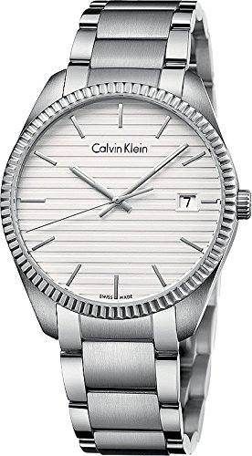 Calvin Klein K5R31146 Silver Stainless Steel Bracelet White Dial Men's Watch