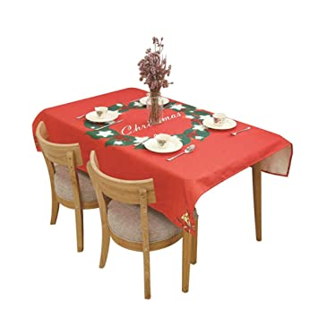 Buy Decdeal Christmas Table Cloth Dining Table Decoration Home Rectangular Party Table Cover Elk Snowman Tree Christmas Ornament Online At Low Prices In India Amazon In